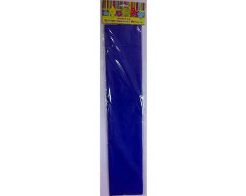 Бумага крепированная 28590 синяя