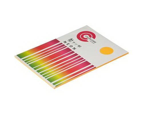 Бумага A4 50 листов А4 50л.COLOR CODE NEON пл.75гр/м2, оранжевая БЕЗ СКИДКИ