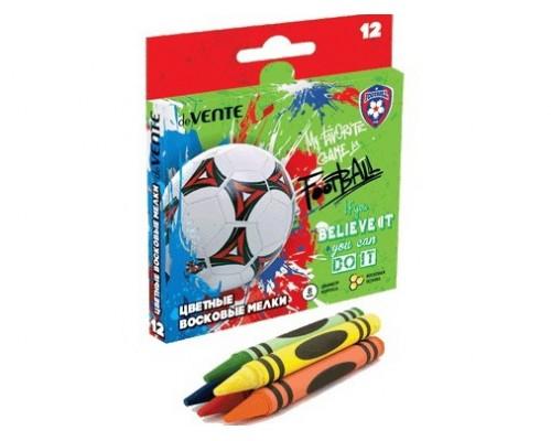 Мелки восковые 12 цветов deVENTE Football