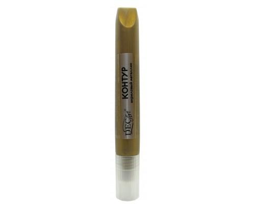 Контур акриловый DecArt металлик шоколадно-золотой, туба 12мл