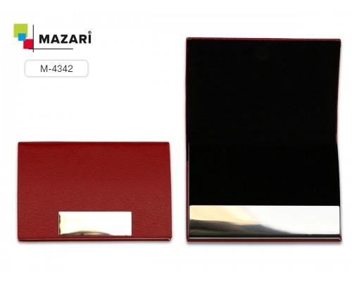 Визитница AVENUE, 9.5 х 6 см, на магните, цвет черный
