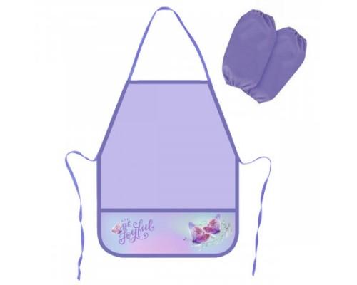 Фартук для труда с нарукавниками Butterfly НФ-2/211170 КОКОС для девочек